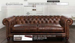 Distinctive Chesterfields' existing website
