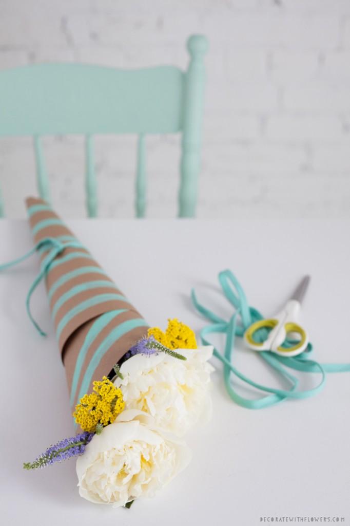 ribbon wrapped