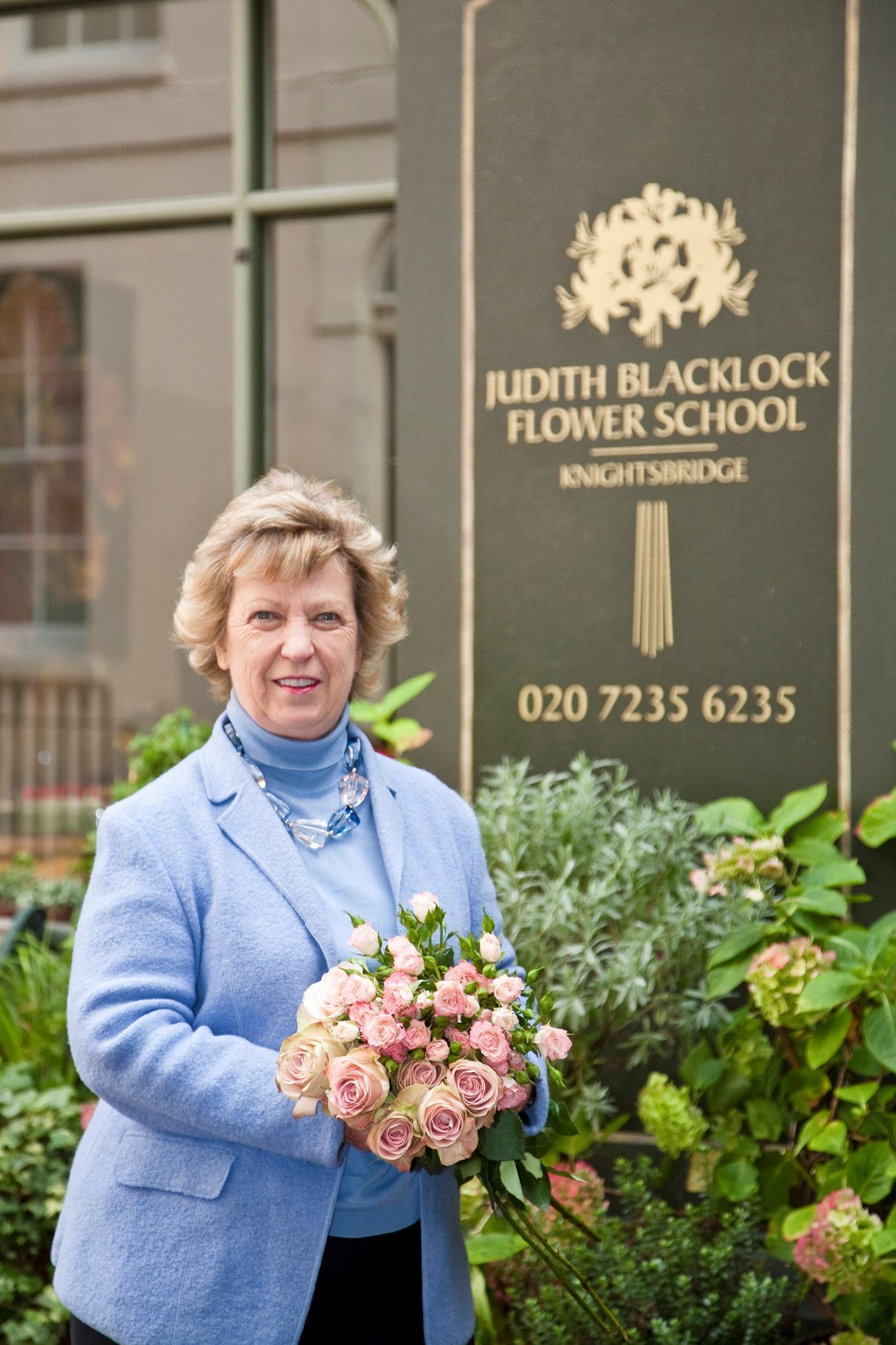 Judith Blacklock and pretty flower bouquet